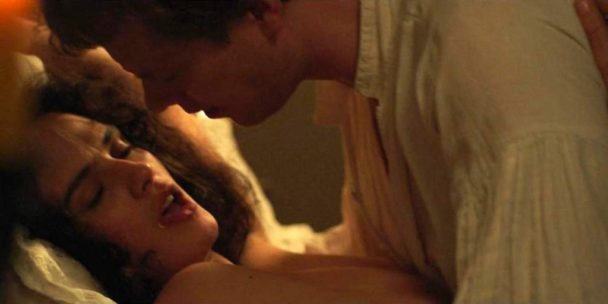 Topless Jessica Brown Findlay Gets Fucked in Missionary 1