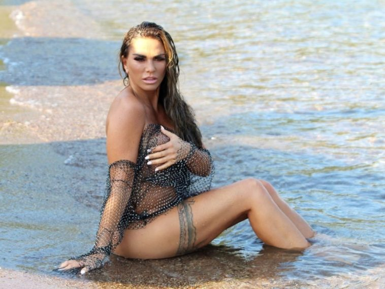 Butterface Katie Price Shows Her Semi-Naked Body in Public 7