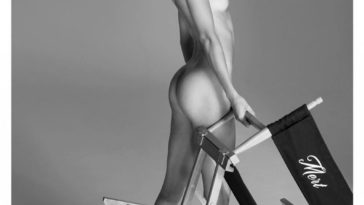 Nude Kendall Jenner Shows Her Shapley Ass in B&W 9