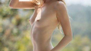 Leggy Blonde Thera Jane Posing Poolside and Looking Hot 13