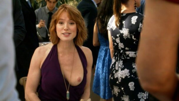 Redhead Alicia Witt Flaunting Her Bare Boobs on Screen 7