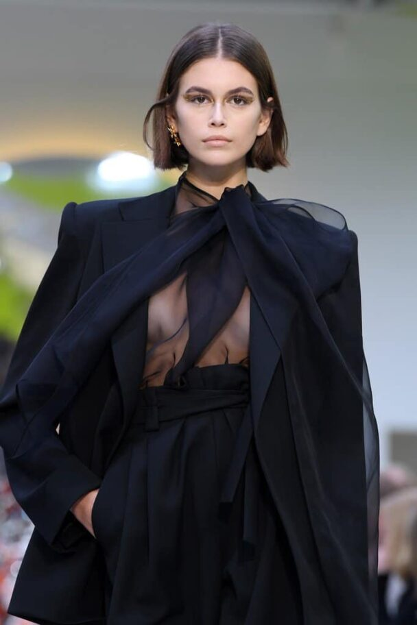 Kaia Gerber Flashing Her Nipple on the Runway 6