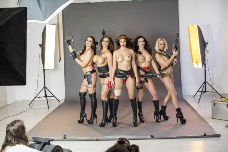 Micaela Schäfer Posing Topless with Her Badass GFs 7