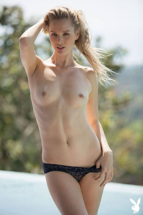 Slim Blonde Thera Jane Posing Poolside (Additional Pics) 2