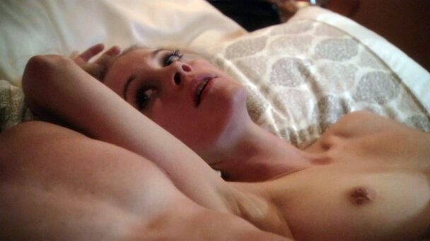 Busty Blonde Gillian Alexy Shows Her Tits in the Bed 1