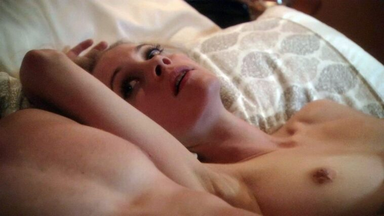 Busty Blonde Gillian Alexy Shows Her Tits in the Bed 7