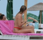 Topless Alexandra Stan Chillaxing on the Beach 23