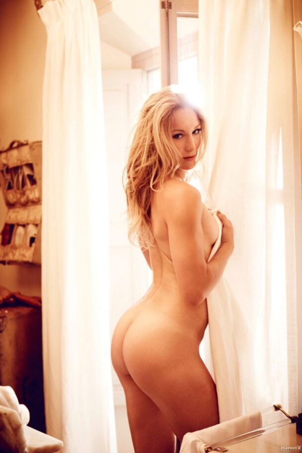 Christine Theiss Shows Her Perky Nude Ass for Playboy 1