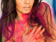 Colorful Photos Focusing on Sexy Sherlyn Chopra 6