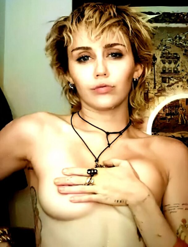 Miley Cyrus Topless 1